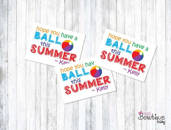 image relating to Have a Ball This Summer Free Printable called Expect yourself contain a BALL this Summertime Summer months printable tags