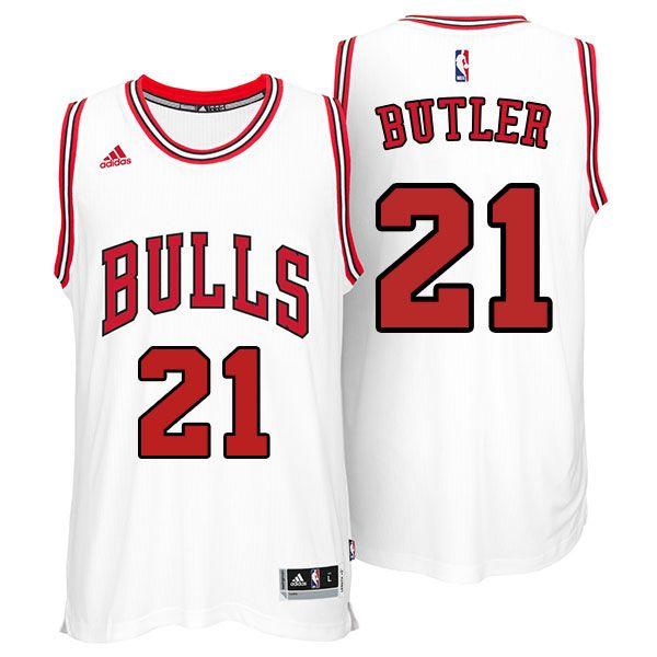 668e50c5a Bulls 21 Jimmy Butler 2015 New White Jersey
