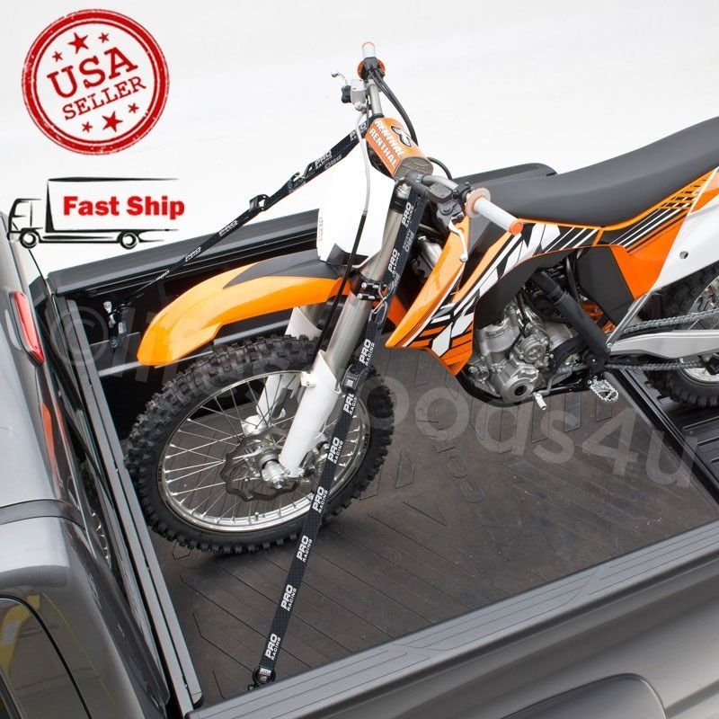 TWO SOFT TIE DOWN MORTOCYCLE ATV MOTOCROSS DIRT BIKE HOOK