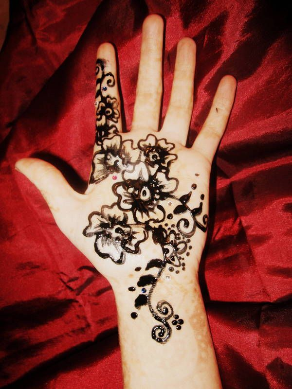 Mendi Hand Henna Tattoo Designs Hand Henna Diy Tattoo Permanent