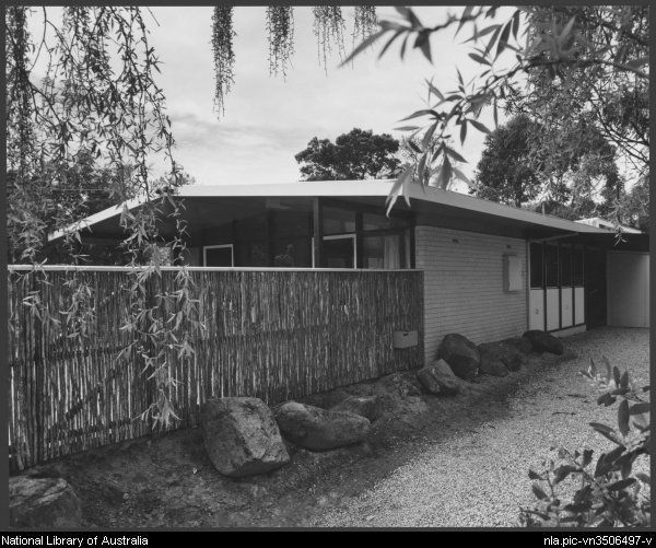 Contemporary Australian Home Architecture On Yarra River: Sievers, Wolfgang, 1913-2007. [Exterior View] House In