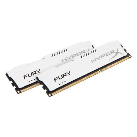 HyperX FURY Memory White 16GB 1600MHz DDR3 CL10 DIMM (Kit