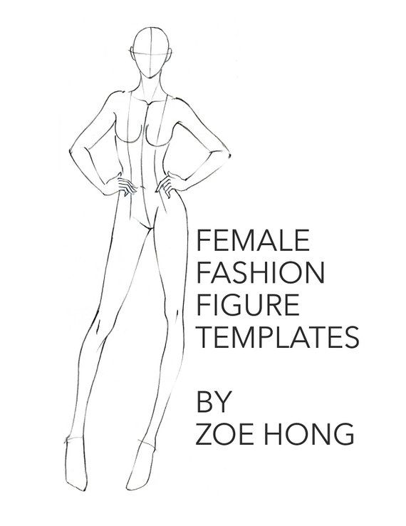 Female Fashion Figure Templates Drawing Human Sketching