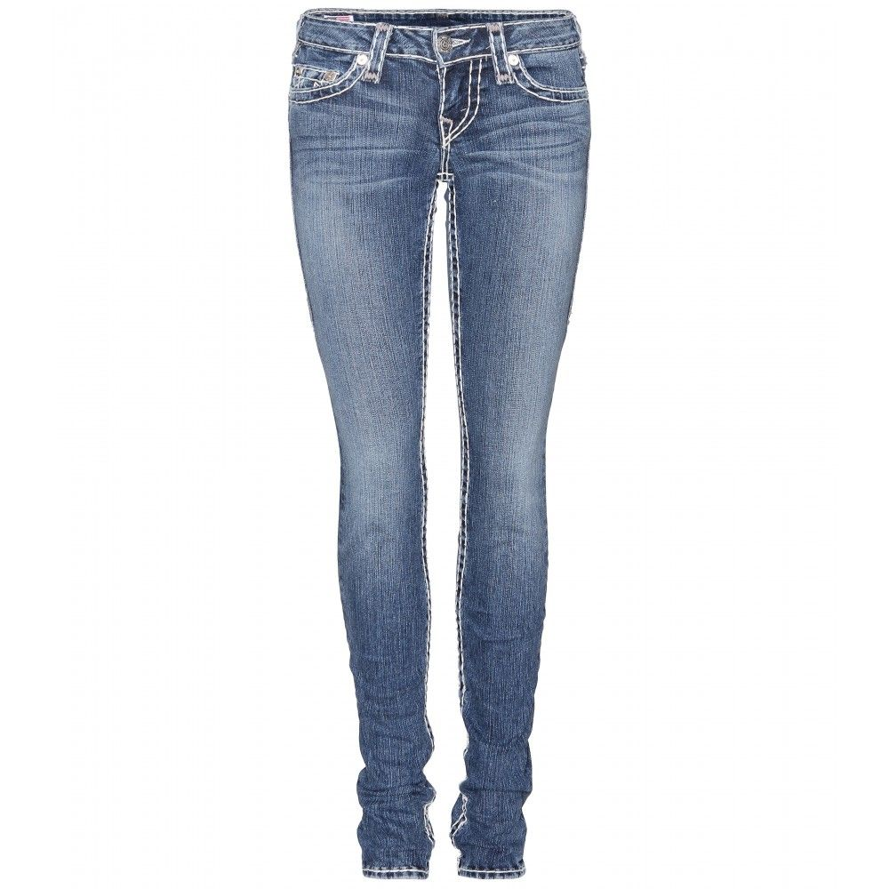 True Religion classic indigo Stella Skinny Jeans with white ...