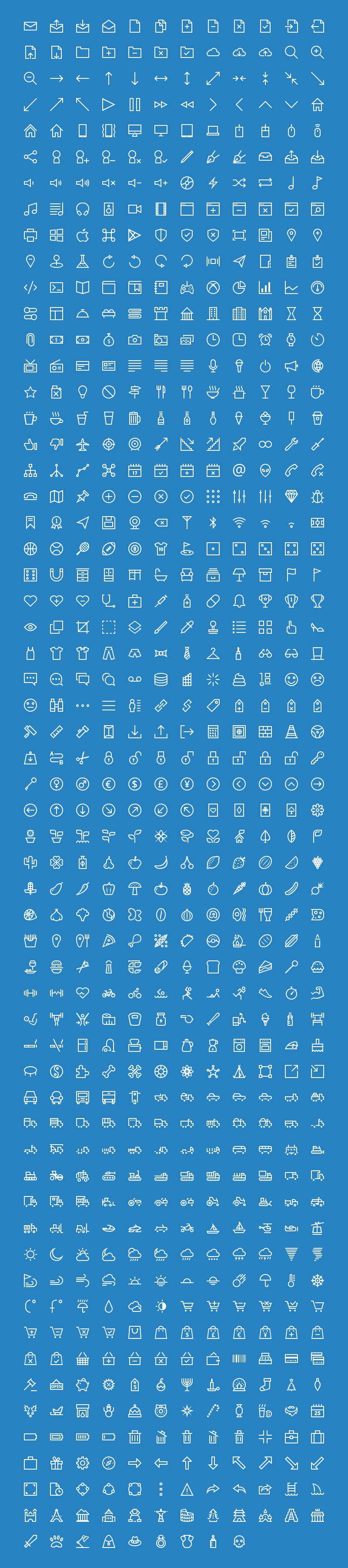 700+ Epic outline icon set
