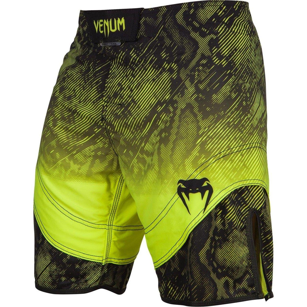 Venum Fusion Fight Shorts Black Yellow Fight Shorts Bodybuilding Clothing Training Shorts