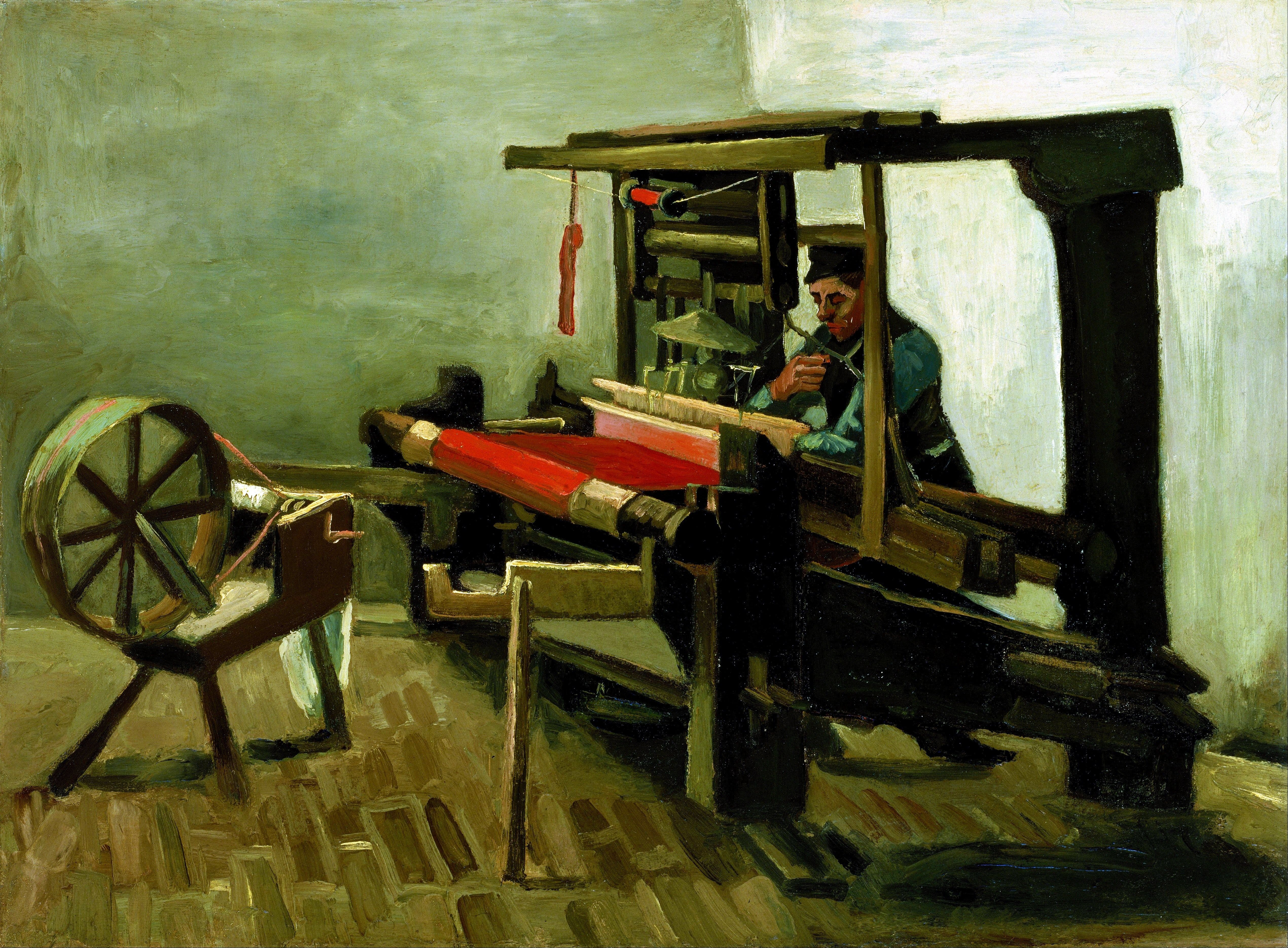 The Weaver By Vincent Van Gogh 1884 Vincent Van Gogh Paintings Van Gogh Art Van Gogh Paintings