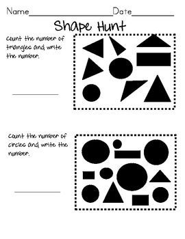 KINDERGARTEN--Shape Hunt Common Core Aligned. I teach high