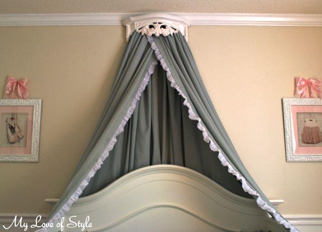 DIY Bed Crown & Canopy Tutorial | DIY | Diy bed, Bed crown ...