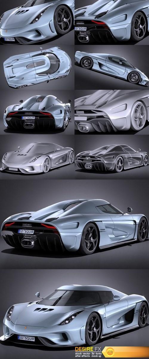 Koenigsegg Regera 2017 3D Model1