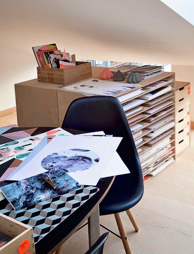 La Bici Azul: Blog de decoración, tendencias, DIY, recetas y arte: Nynne Rosenvinge, su universo gráfico y su casa