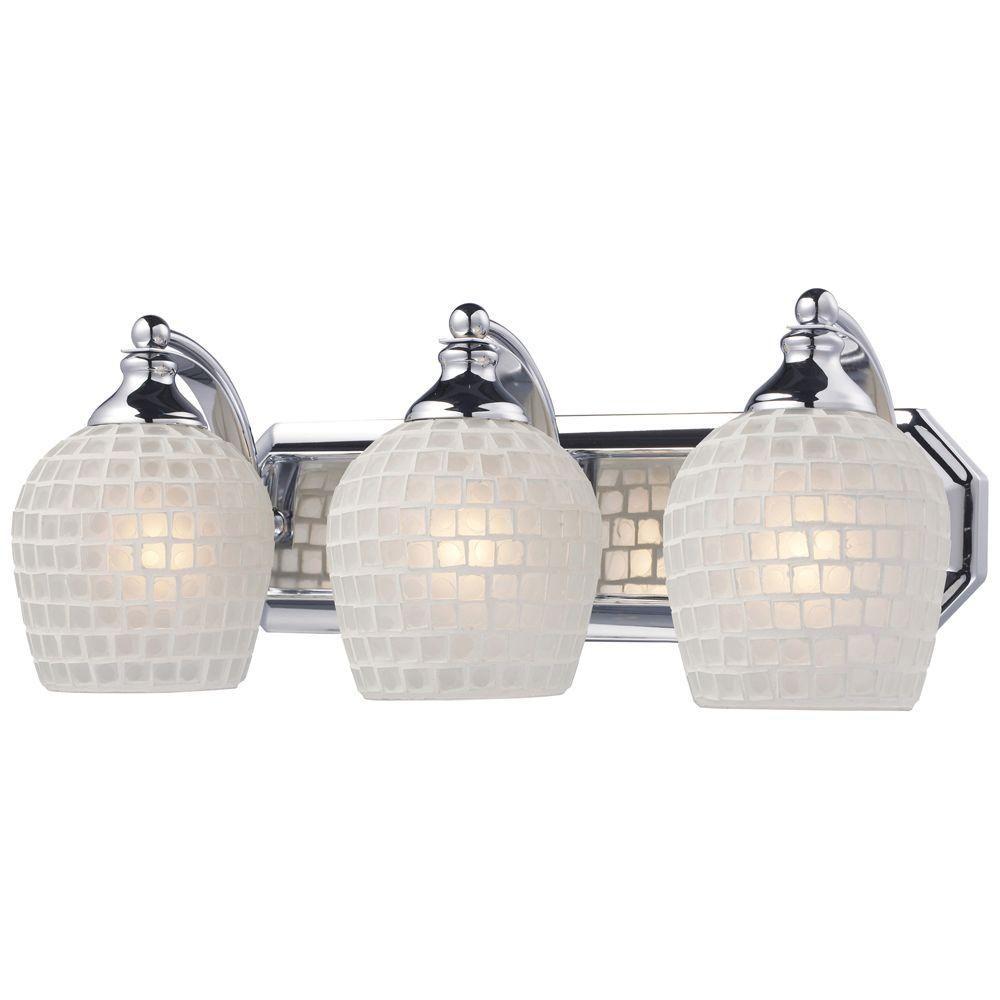 Titan lighting light polished chrome wall mount vanity light