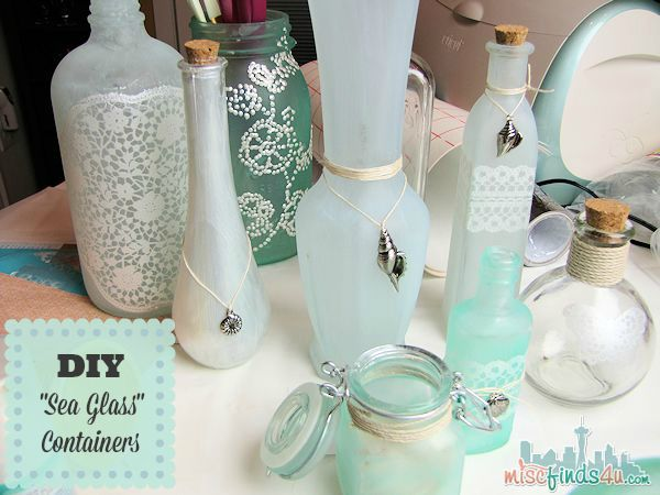 How To Decorate Glass Jars Decorating Diy Sea Glass Bottles  Diy Crafts Home  Pinterest