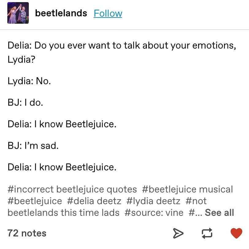 Beetlejuice In 2020 Theater Kid Memes Beetlejuice Quotes Musicals