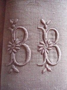 Old French monogram napkin