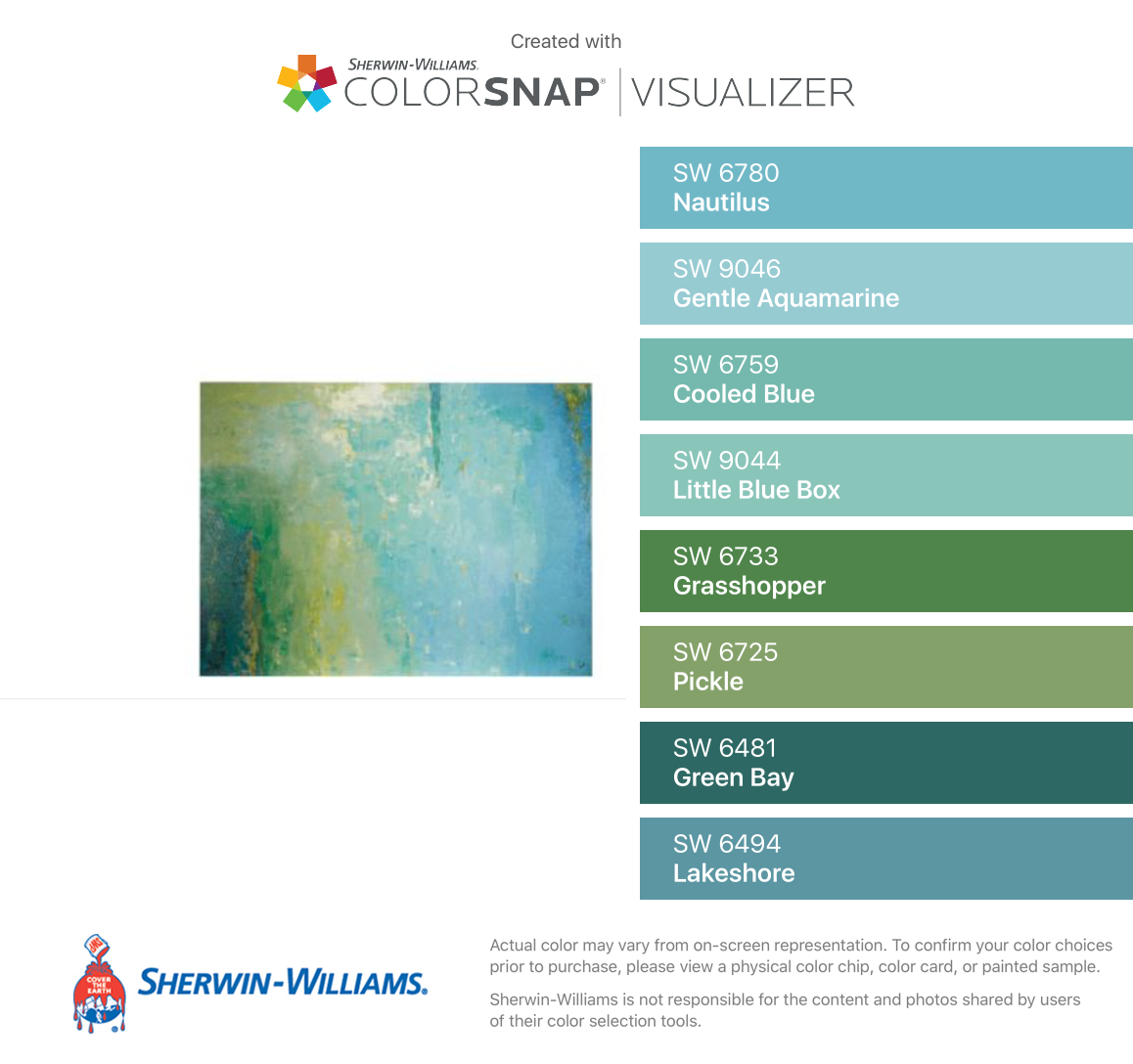 I Found These Colors With Colorsnap Visualizer For Iphone By Sherwin Williams Nautilus Sw Sherwin Williams Aquamarine Painting Sherwin Williams Paint Colors