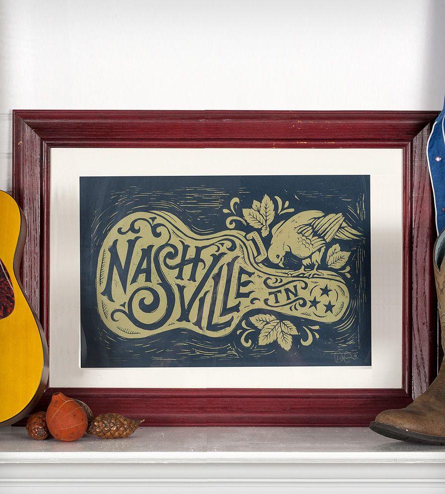nashville guitar print for the home nashville prints song images. Black Bedroom Furniture Sets. Home Design Ideas