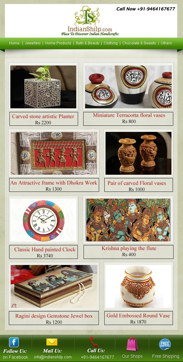 Online Store For Latest Indian Craft Items Find Huge Range Of