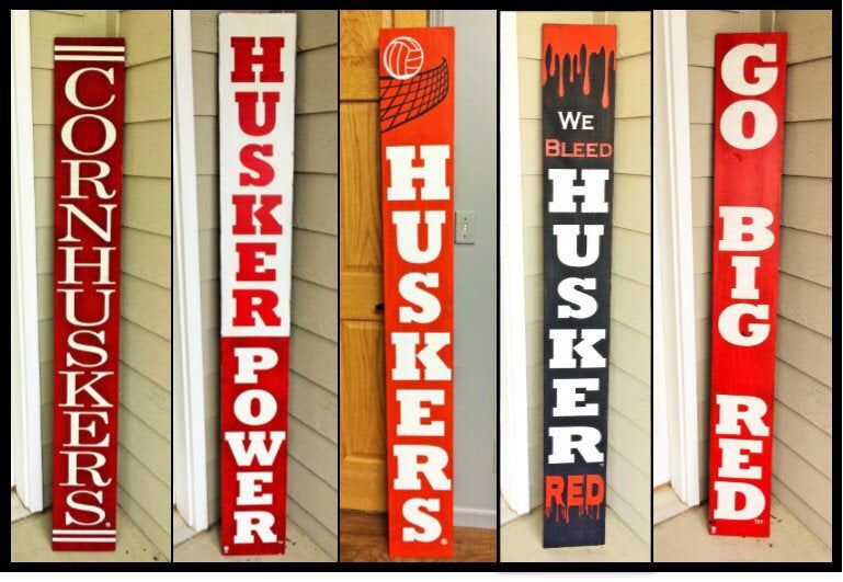 Welcome Sign For Front Door Nebraska Huskers Sign Cornhusker Football By Leanupslincoln On Etsy Https Welcome Signs Front Door Porch Signs Front Porch Signs