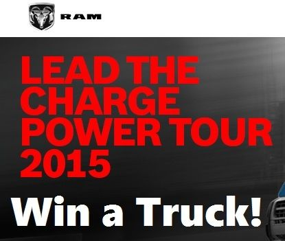 Lead the charge power tour sweepstakes