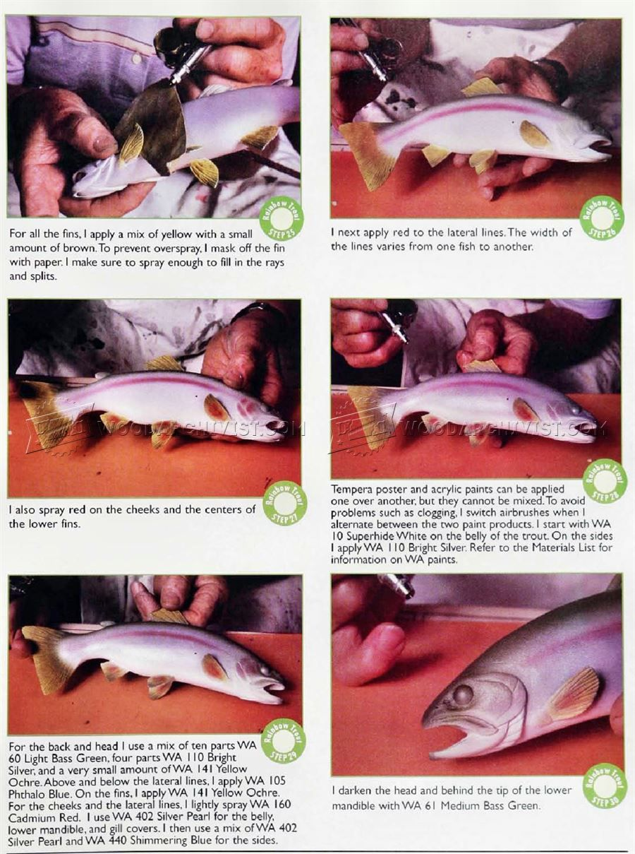 Carving and Painting Rainbow Trout - Wood Carving | Trout wood ...