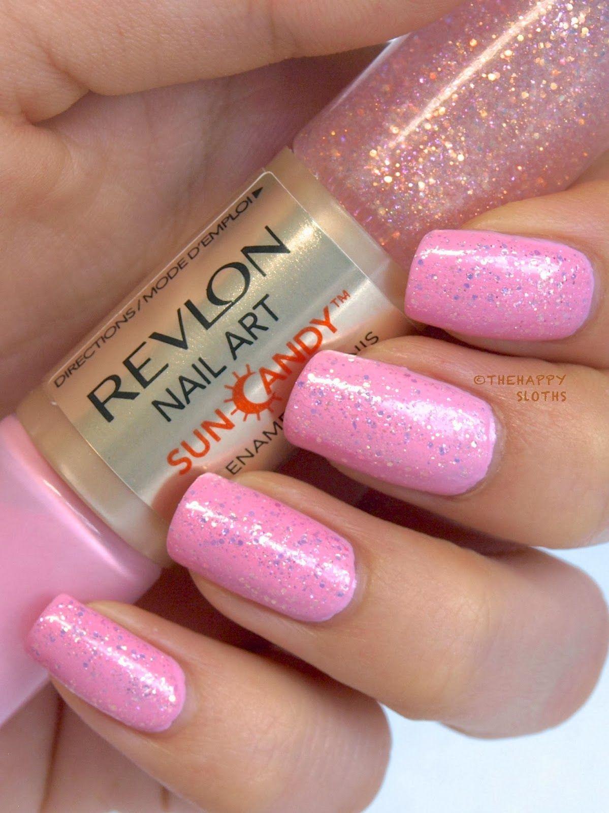 Revlon Nail Art Sun Candy Nail Enamel In Pink Dawn Fiery Sky