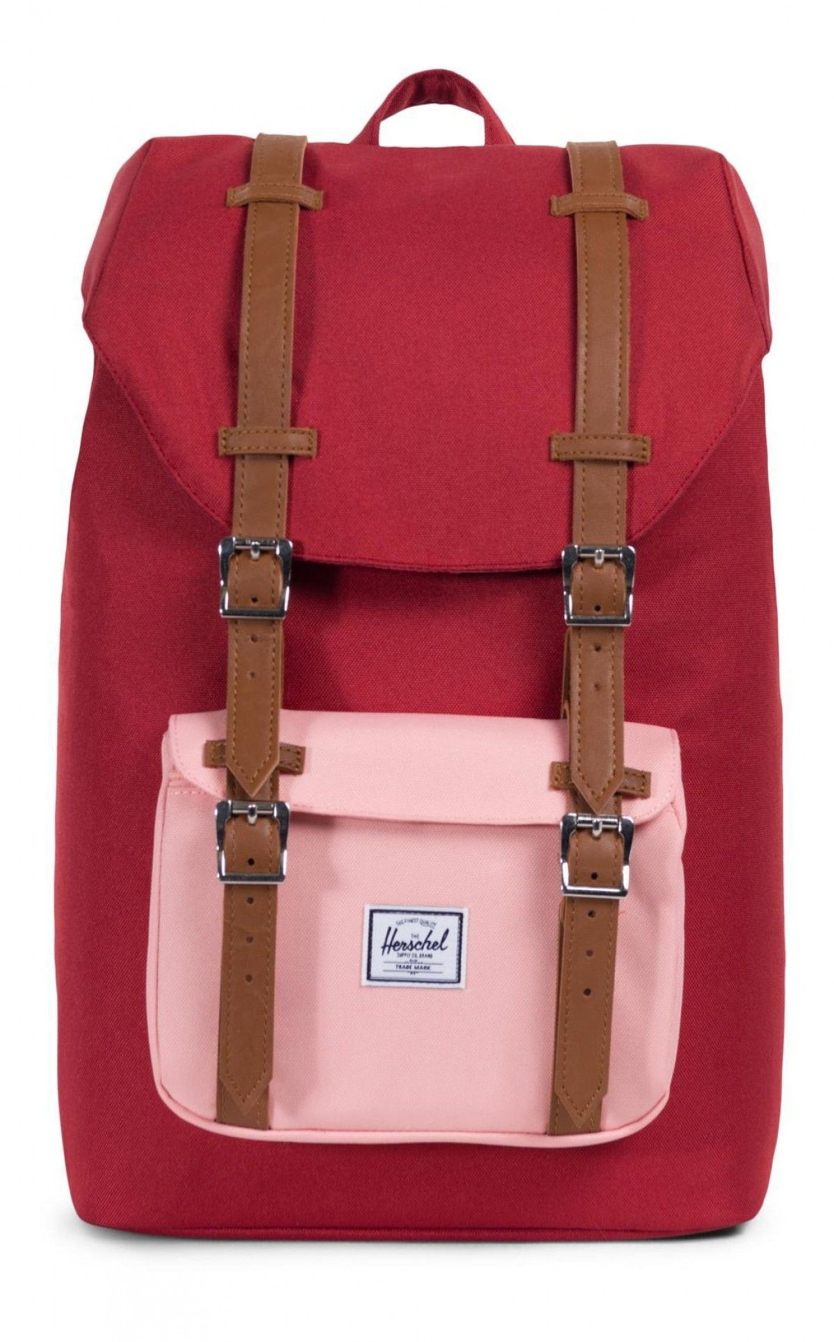 d74d23dbb1 Herschel Little America Mid Backpack 600D Poly Brick Red Peach ...