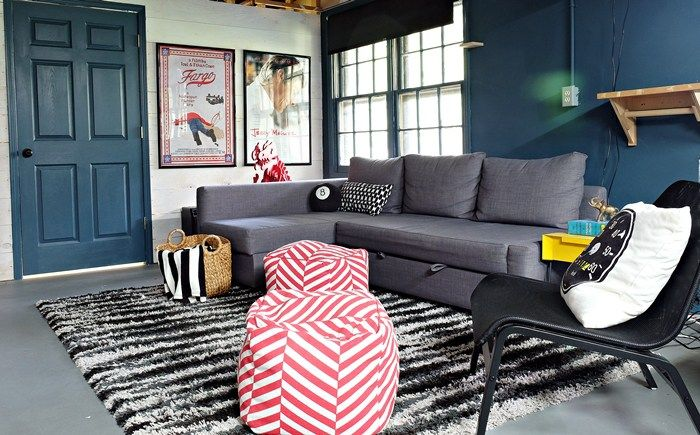 An Ikea Friheten Sofa Comes To Live In Our Basement Ikea Sofa