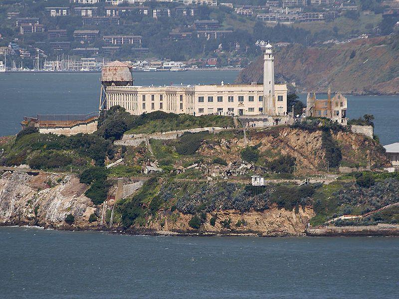 Alcatraz Island Lighthouse San Francisco Bay California The