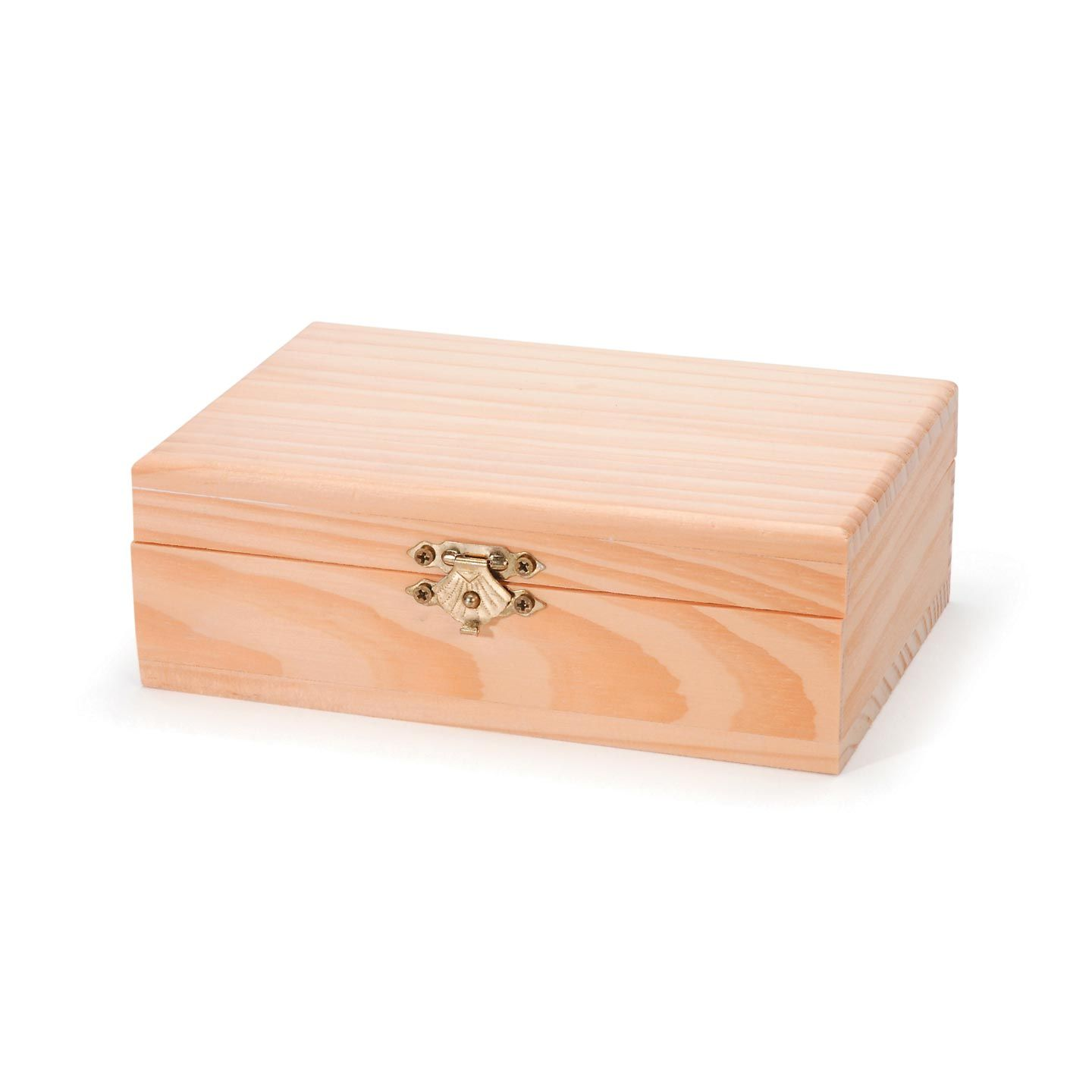 At 6 X 4 X 2 Inches This Hinged Wood Box Is The Perfect Size For Small Mementos Decorate This Unfinis Wood Boxes Unfinished Wood Boxes Unfinished Wood Crafts