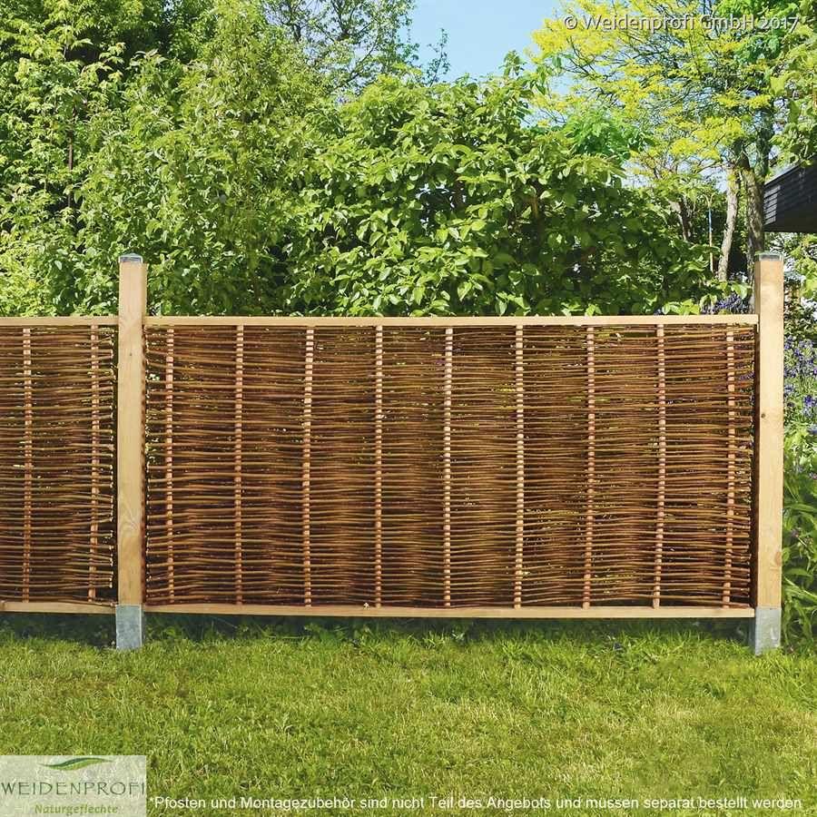 Weidenzaun Lato Standard Mit Seitlichem Rahmen Gartenzaun