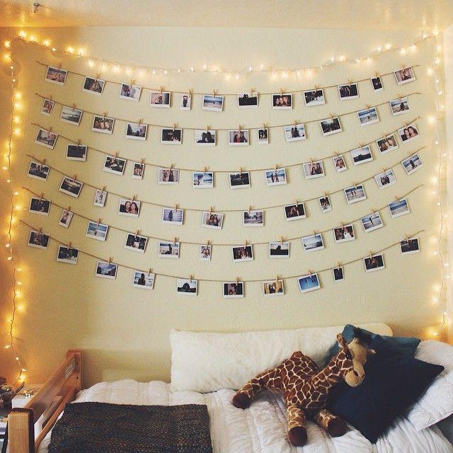 Bellissima idea per appendere le foto diy picture room for Idee per appendere foto