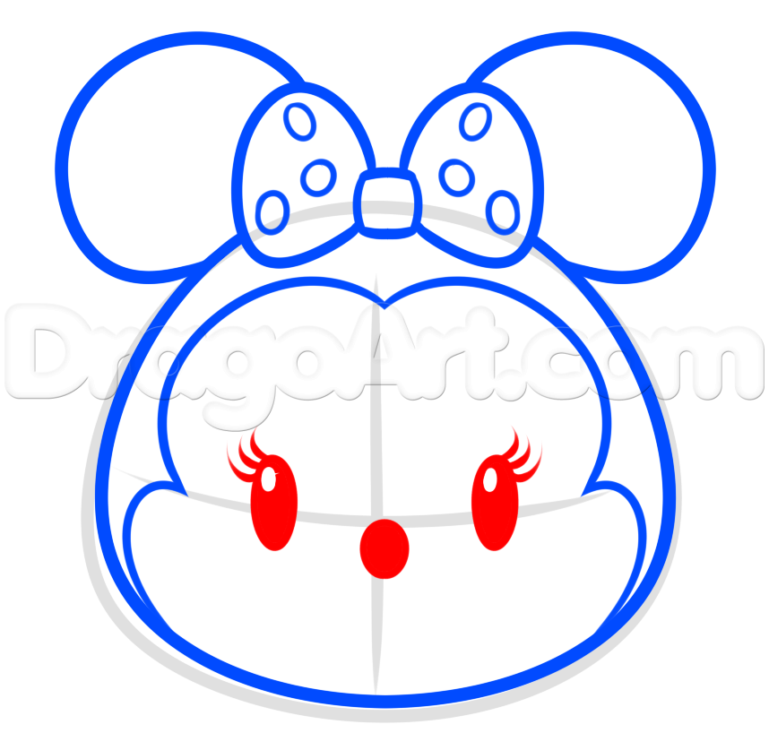 How To Draw Tsum Tsum Minnie Mouse Step 5 Disney Pinterest
