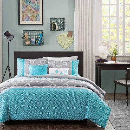 La douillette Clara rend tout amusant dans la chambre et la rend - chambre bleu gris blanc