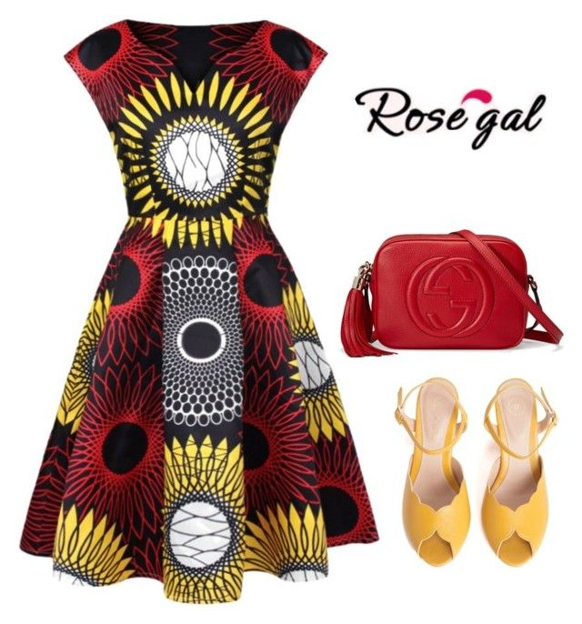 """""""Rosegal- Print Dress"""" by drry-dccxc ❤ liked on Polyvore featuring SPECIAL DAY and Gucci"""