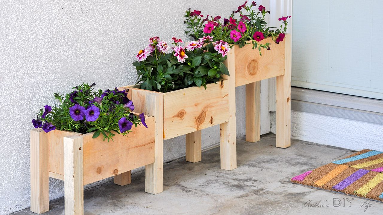 Easy DIY Tiered planter for 10! Deck, Garden and