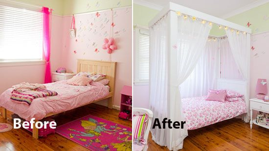 How To Make A Four Poster Princess Bed Girl Room Room Princess Bed