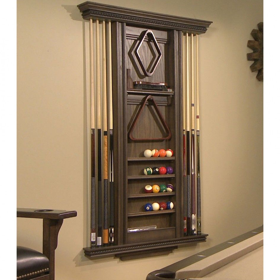 Splendid Pool Cue Cabinet Plans From Maple Wood Boards With Dark