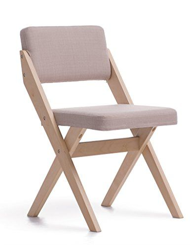 simple desk chair recliner covers walmart hwf folding nordic solid wood dining back casual wooden log office