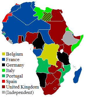 africa map colonies 1914