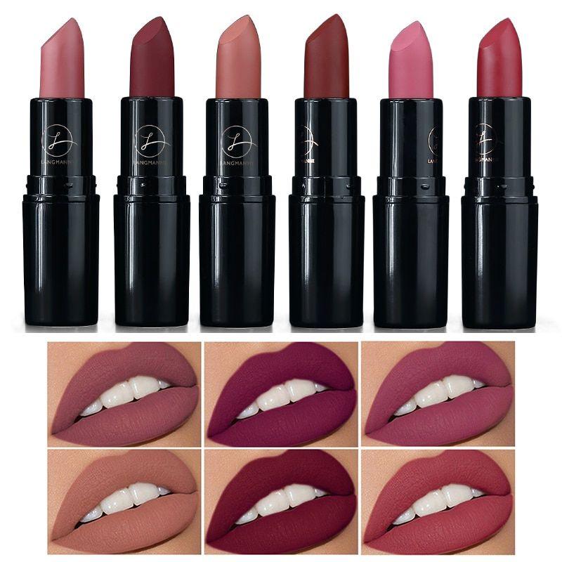 Fashion 6 Colors Lips Makeup Lipstick Waterproof Matte Lipstick Lip Sticks Cosmetic Easy To Wear Matte Makeup Lipstick Txtb1 Lip Gloss Cosmetics Tinted Lip Gloss Lipstick