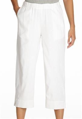 1e4458048a8cb Full-leg linen capri pants in White