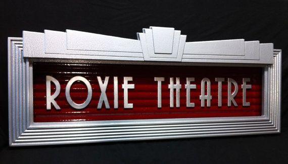 custom made vintage antique style art deco movie theatre