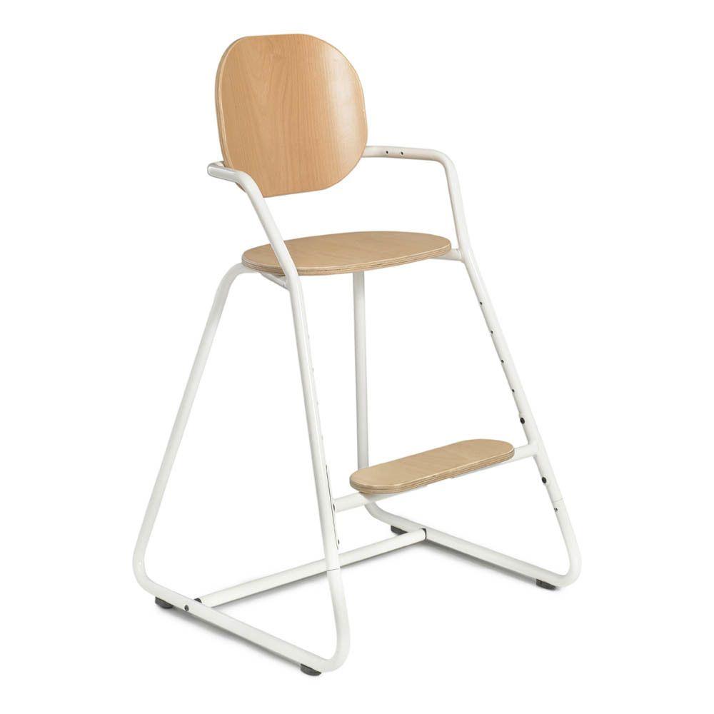 Chaise Haute Evolutive Avec Tablette Tibu Structure Metal Et Bois Entre Jambe En Cuir Product Chair Convertible High Chair Tibu