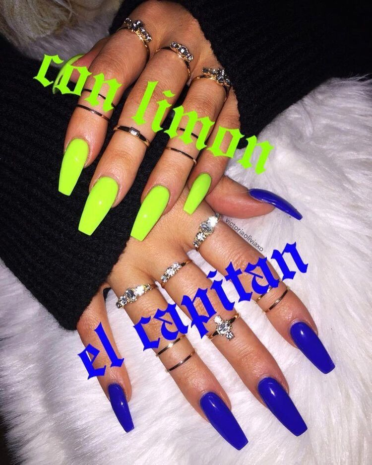 Pin By M A Y A On N A I L S Neon Nails Acrylic Nails Nail Designs