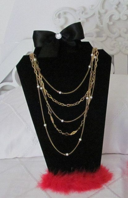 Necklace Jewelry Mannequin Stand Easel Organizer by SoZoeyBoutique