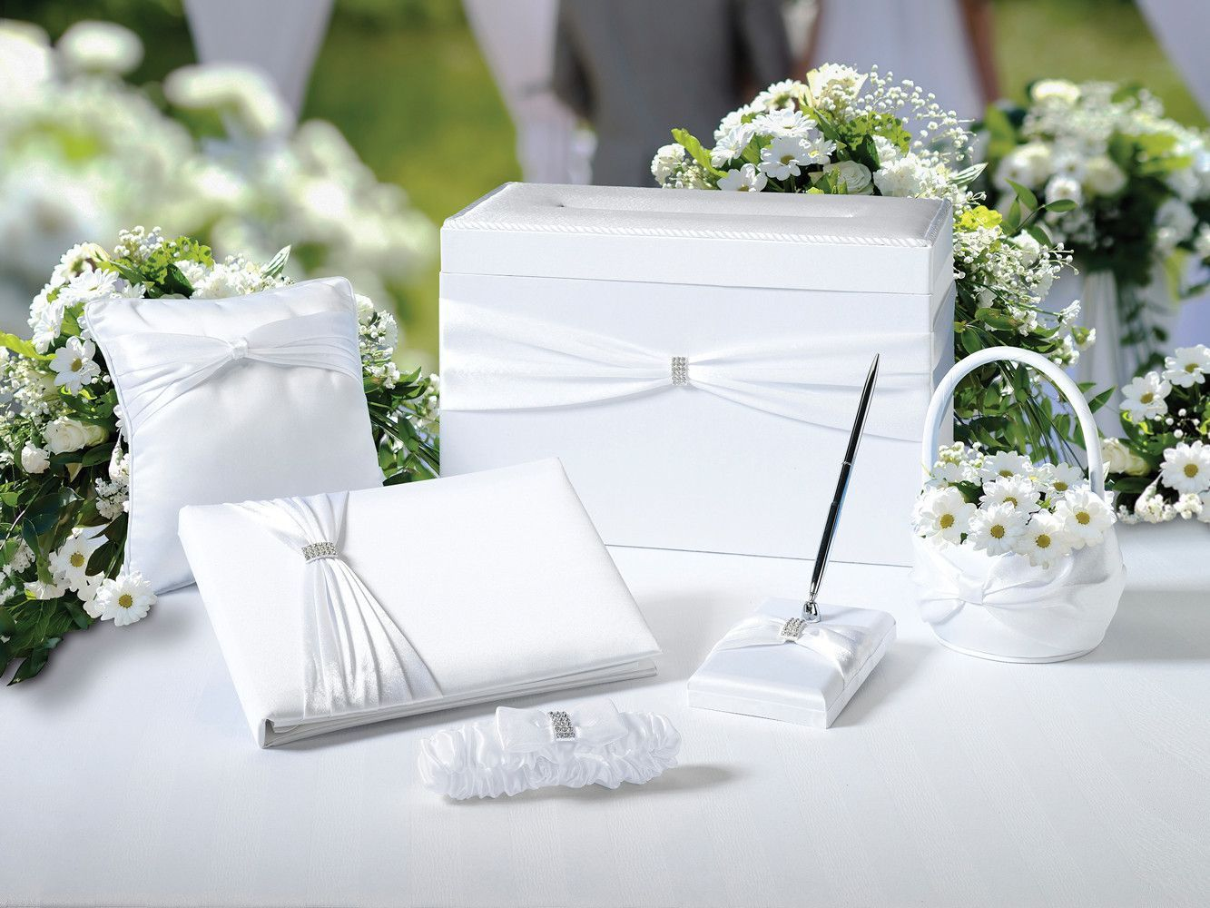 Wedding In A Box - White   White satin, Box and Products