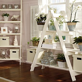 Build A Ladder Style Shelving Unit Home Decor Diy Furniture Home