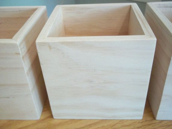 5 X 5 X 5 Wood Box Wedding Centerpiece Flower Organizer Etsy Wooden Boxes Wood Boxes Candle Centerpieces