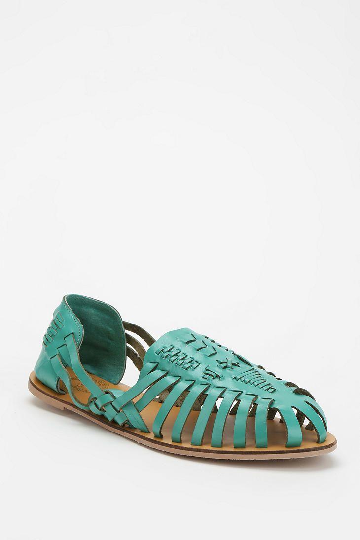 93bdaf5f01a22 Ecote Leather Huarache Sandal - Green Teal  39.00